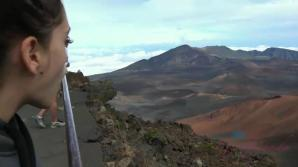 You take Brooke to the top of the volcano, and the nude beach.