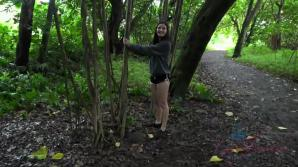 Emily enjoys a day out in the caves, and black sand beach.